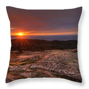 Sunrise View From Cadillac Mountain Throw Pillow