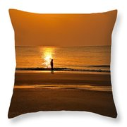 Sunrise Walk Throw Pillow