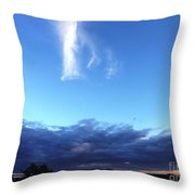 Sunrise White Cloud Throw Pillow