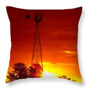 Sunrise Windmill 1 A Throw Pillow