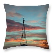 Sunrise Windmill Throw Pillow