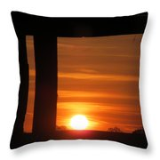 Sunrise Window Throw Pillow
