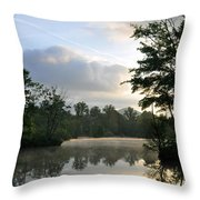 Sunrise With A Jet Trail Throw Pillow