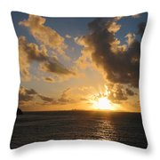 Sunrise With Clouds St. Martin Throw Pillow
