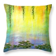 Sunrise With Water Lilies Throw Pillow