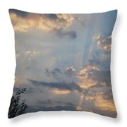 Suns Rays 3 Throw Pillow