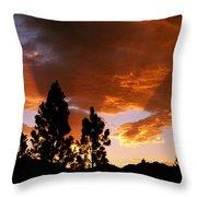 Bitterroot Valley Sunset Throw Pillow