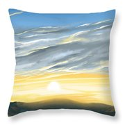 Sunset Above The Hill Throw Pillow