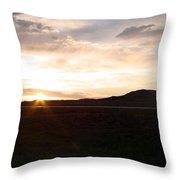 Sunset Across I 90 Throw Pillow