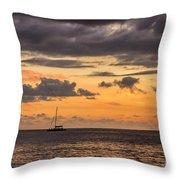 Romantic Sunset Adventure Throw Pillow
