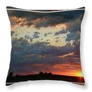 Sunset After A Thunderstorm Photoart Throw Pillow