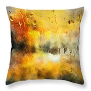 Sunset After The Storm Abstract Throw Pillow