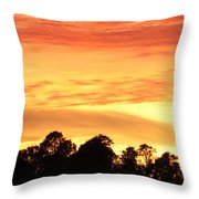 Sunset And Beautiful Clouds Throw Pillow