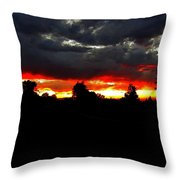 Sunset And Clouds Throw Pillow