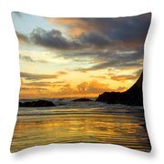 Sunset And Seal Rock Throw Pillow