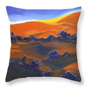 Sunset And Shadow Throw Pillow