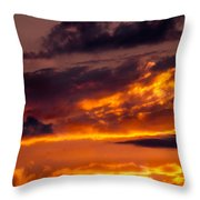 Sunset And Storm Clouds Throw Pillow