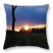 Sunset And The Dead Tree Throw Pillow