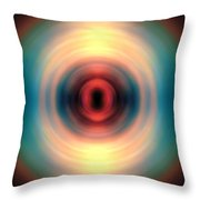 Sunset And Water Spin Art 12 Throw Pillow