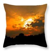 Sunset Angel Throw Pillow