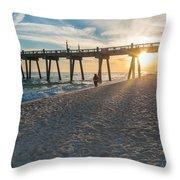 Sunset Art Throw Pillow