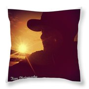 Sunset Art  Throw Pillow