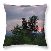 Sunset At Brasstown Bald Throw Pillow