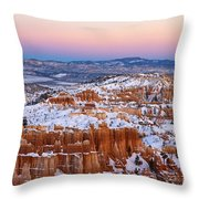 Sunset At Bryce Canyon National Park Utah Throw Pillow