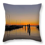 Sunset At Burlington Bay - Vermont Throw Pillow