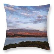 Sunset At Cachuma Lake Throw Pillow