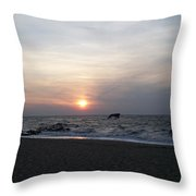 Sunset At Cape May Nj Throw Pillow