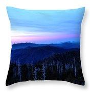 Sunset At Clingman's Dome Throw Pillow