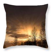 Sunset At Columbia River Gorge Oregon Throw Pillow