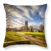 Sunset At Derby Cathedral Park Throw Pillow