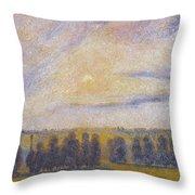 Sunset At Eragny, 1890 Throw Pillow