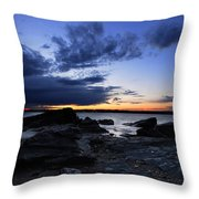 Sunset At Fort Getty Throw Pillow