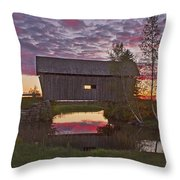 Sunset At Foster Bridge Throw Pillow