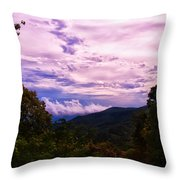 Sunset At Gorges State Park Throw Pillow