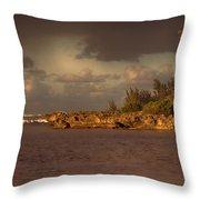 Sunset At Haleiwa Beach Oahu Hawaii V3 Throw Pillow
