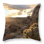 Sunset At Joshua Tree National Park Throw Pillow