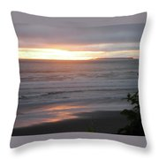 Sunset At Kalaloch Throw Pillow