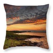 Sunset At Kent Narrows Throw Pillow