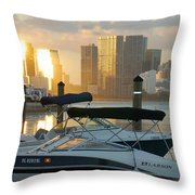 Sunset At Key Biscayne Throw Pillow