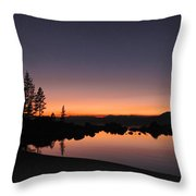 Sunset At Lake Tahoe Throw Pillow