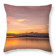 Sunset At Lake Titicaca - Peru Throw Pillow