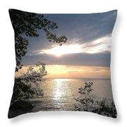 Sunset At Lake Winnipeg Throw Pillow