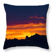 Sunset At Landscape Arch Throw Pillow