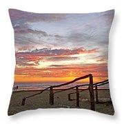 Sunset At Las Glorias Over Sea Of Cortez-sinaloa Throw Pillow
