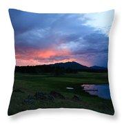 Sunset At Locke's Pond - Big Horn Mountains - Buffalo Wyoming Throw Pillow