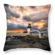 Sunset At Marshall Point Throw Pillow